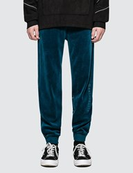 Wasted Paris Velvet Trackpant Blue