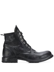 Moma Lace Up Ankle Boots Black