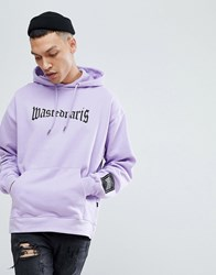 Wasted Paris London Hoodie In Purple Lavender