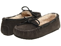 Minnetonka Cally Slipper Grey Brown White Women's Moccasin Shoes Gray