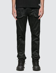 White Mountaineering Stretched Double Pockets Tapered Pants Black