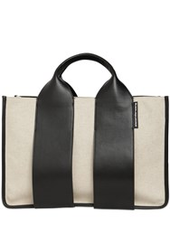 Alexander Wang Large Rocco Canvas And Leather Tote Bag Natural