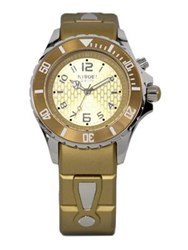 Kyboe Power Gold Silicone And Stainless Steel Strap Watch 40Mm