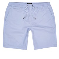 River Island Mens Light Blue Slim Fit Casual Shorts