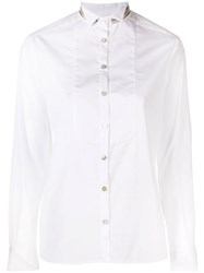 Barba Contrast Collar Shirt White