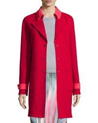 Elie Tahari Lisa Wool Blend Mid Length Coat