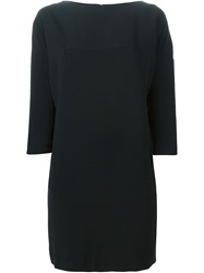 Gianluca Capannolo Boat Neck Shift Dress Black