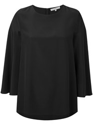 Tibi Cape Top Women Silk 8 Black