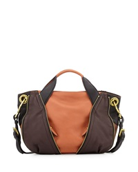 Oryany Lian Small Zip Satchel Bag Saddle Multi