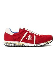 Premiata White 'Lucy' Sneakers Red