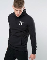 11 Degrees Hoodie With Logo Black