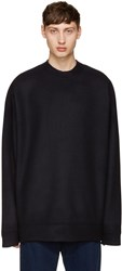 Marques Almeida Navy Wool Oversized Sweater