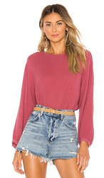Velvet By Graham And Spencer Eva Gauze Blouse In Pink. Raspberry