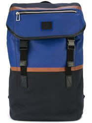 Paul Smith Ps By Double Straps Structured Backpack Black