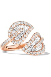 Anita Ko Leaf 18 Karat Rose Gold Diamond Ring