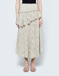Christophe Lemaire Ruffle Skirt Cream