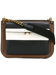 Marni Zipped Shoulder Bag Women Calf Leather One Size Black