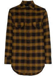 Song For The Mute Oversized Check Shirt Brown