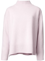 Le Ciel Bleu 'Boiled Box' Sweater Pink Purple