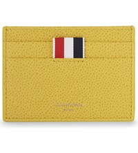 Thom Browne Pebbled Leather Card Holder Yellow