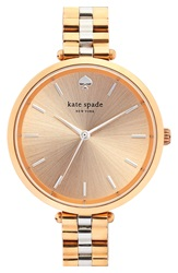 Kate Spade 'Holland' Bracelet Watch 34Mm Rose Gold Silver