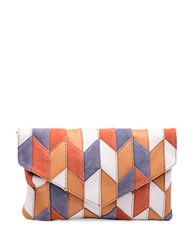 Linea Pelle Spence Leather And Suede Crossbody Multi