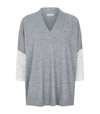 Claudie Pierlot Mania Lace Sleeve Jumper Female Grey