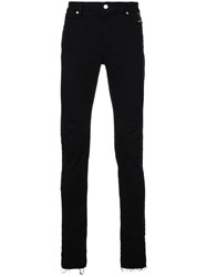 Rta Raw Hem Skinny Jeans Black dad27b69b5d