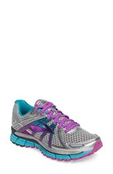 Brooks Women's Adrenaline Gts 17 Running Shoe Silver Purple Bluebird