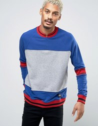 Cheap Monday Sprint Stripe Sweat Royal Blue