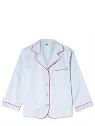 Bodas Cotton Sateen Pyjama Shirt Blue