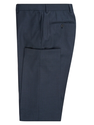 Jaeger Micro Herringbone Slim Suit Trousers Airforce Blue