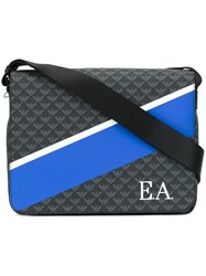 Emporio Armani Colour Block Messenger Bag Blue