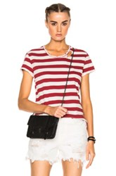 Rta Nicola Tee In Red Stripes Red Stripes