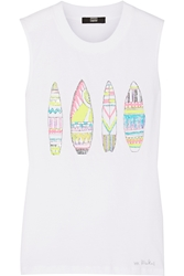 Markus Lupfer Surfboards Hetty Sequined Cotton Tank