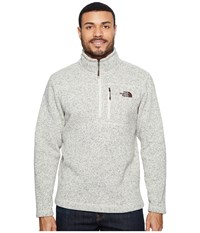 The North Face Gordon Lyons 1 4 Zip Rainy Day Ivory Heather Men's Long Sleeve Pullover White