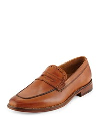 Cole Haan Giraldo Leather Penny Loafer British Tan