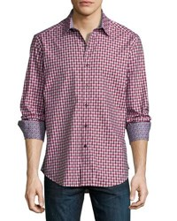 Robert Graham Last Supper Check Woven Shirt Purple