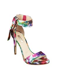 Guess Allen Open Toe Floral Sandals Multi Colored