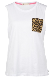 Rusty Rad Muscle Top White