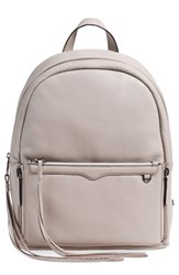 Rebecca Minkoff 'Lola' Backpack With Detachable Crossbody Grey Putty Gunmetal Hrdwr