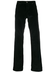 Salvatore Ferragamo Corduroy Straight Leg Trousers Black