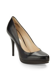 Nine West Kristal Leather Platform Pumps Black