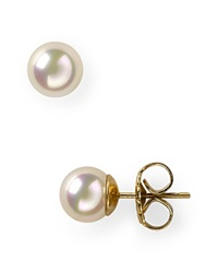 Majorica Simulated Pearl Stud Earrings 8Mm White