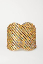 Rosantica Iside Gold Tone Crystal Cuff One Size