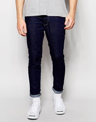 Selected Homme Jeans In Skinny Fit Mid.Blue