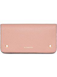 Burberry Leather Phone Wallet Pink