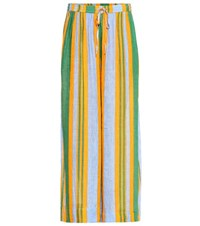 Diane Von Furstenberg Beach Linen Blend Culottes Multicoloured