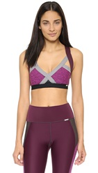 Vpl Spongy Insertion Bra W Eggplant Marl