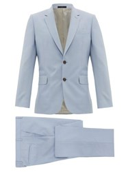 Paul Smith Soho Fit Single Breasted Wool Blend Suit Light Blue